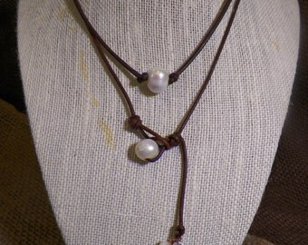 Reversible 10mm - 12mm Freshwater Single Pearl Necklace with