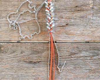 Braided Hex Nut Modern Necklace