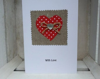 Heart Motif Card - occasion card, greeting card, handmade card, personalised card