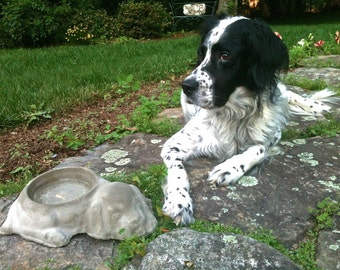 Concrete Dog Dish Bowl, Outdoor Pet Bowl, Backyard Dog Bowl, Dog water bowl, Dog food bowl, Dog bowls, Water bowl,