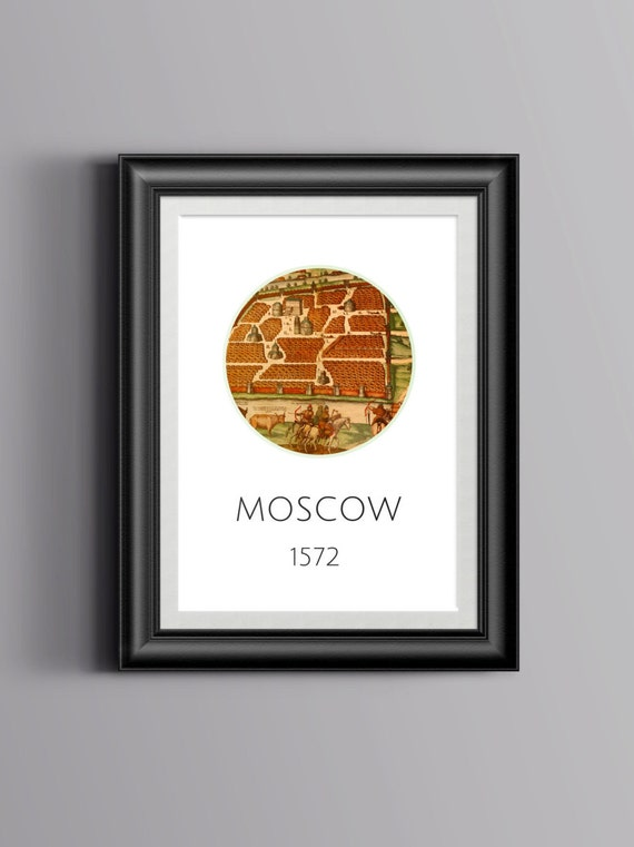 MOSCOW 1572 - Old city map