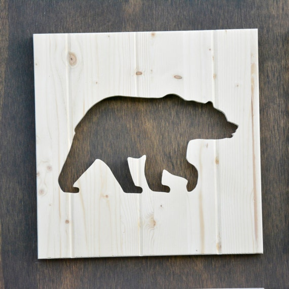templates for wood cutouts - bear wood silhouette woodland animal cutout 13