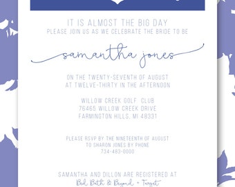 Anchors Away Bridal Shower Invite (Digital File)