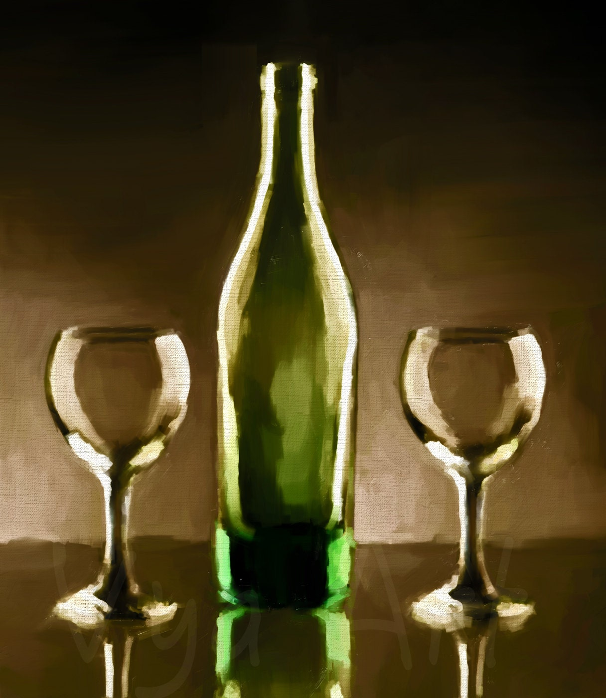 Wine painting wine painting wine art wine glass art original for Paint vino