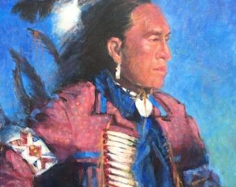 Original Painting NATIVE AMERICAN INDIAN Southwest Western Impressionist