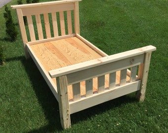 Twin bed - full size bed - Solid Pine