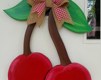 Summer Cherries door hang