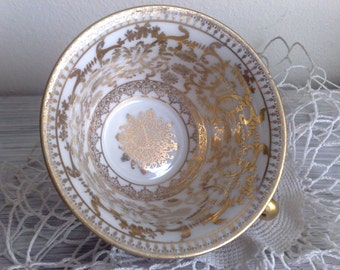 vintage teacup bordoux with gold designs oepiag royal 20s without saucer    free Shipping !!!!!