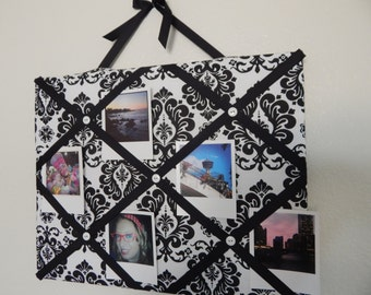 Elegant Black and White Photo Memory Board