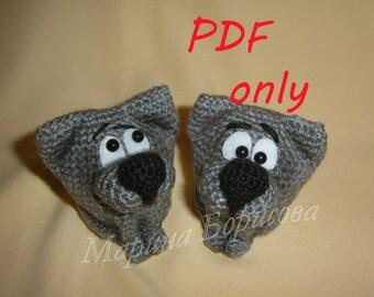 Cute little wolf Crochet Pattern amigurumi PDF