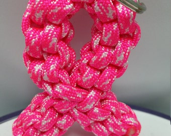 Breast Cancer Awareness Ribbon Keychain