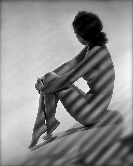 era nue Film Noir-Noir et blanc-multiples tailles-[730-198] Sexy érotique Noir étude classique les années 1930-1940