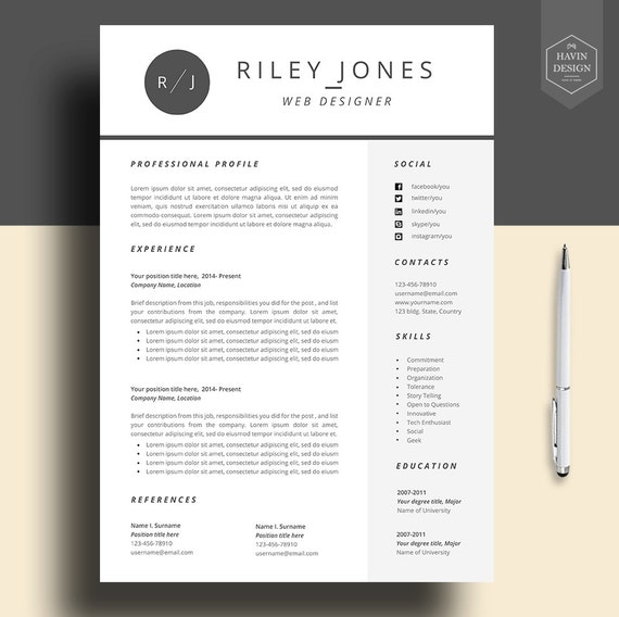 professional resume template  cv template  resume template for word  free cover letter  cv