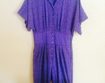 1970s Purple Jumpsuit