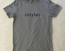 CSS Style - T-Shirt Developer Unisex Graphic Tee S M L XL Funny Teen Shirt Design Web Programmer