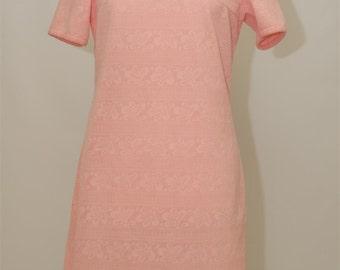 vintage pink sixties dress, vintage dress, 60s dress