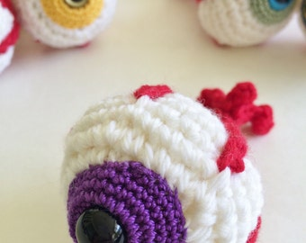 Purple Eyeball Amigurmi Plush Ornament or Keychain