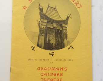 40s Grauman's Chinese Theatre A Shrine To Art - Official Autograph Book Souvenir - 1940s Hollywood Vintage
