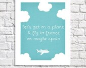 Plane Decor Adventure Nursery Wall Art For Kids Quotes For Boys Transportation Party Travel Baby Shower Toddler Girl Room Airplane Picture