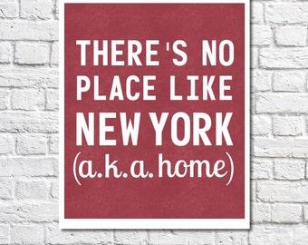 New York Print New York City Poster Loft Art Apartment Wall Art New York Home Decor New York Gift Subway Art NYC Typography Quote Urban Art