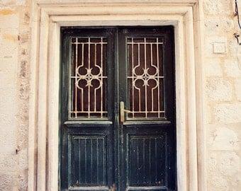 door photography, dubrovnik croatia photograph, europe art, architecture art, blue home decor, travel photograph, D26