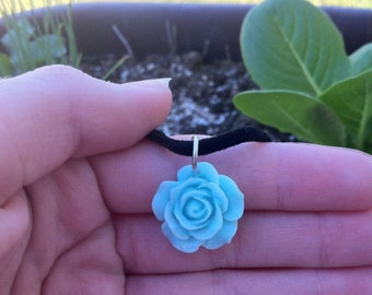 Mint Green Flower Necklace