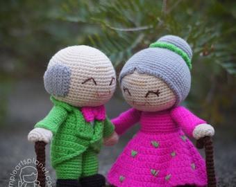 Alice & Michael Old Wedding Couple Amigurumi Pattern