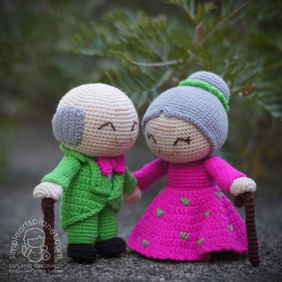 Onigiri Couple Amigurumi Free Crochet Pattern : Alice & Michael Old Wedding Couple Amigurumi Pattern