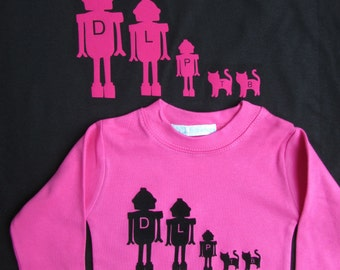 Personalised T shirt Set Dad and Child