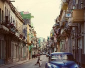 Cuba Photography, Cuba Print, Central Havana Cuba, Street Photography, Vintage Car, Travel Photography, Cuba Wall Art - La Habana