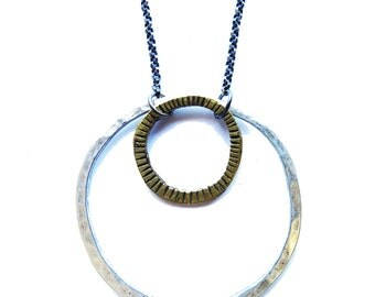 Mixed Circles Necklace