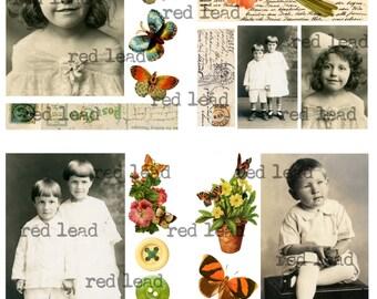 "Digital Vintage Photos Collage Sheet - 8-1.2"" x 11"" - Ancestors 120"