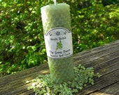 The Green Faerie Rolled Beeswax Spell Candle - Absinthe, Creativity, Inspiration, Psychic Workings, Intuition, Visions, Faerie Magick, Pagan