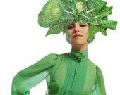 Green Vegetable Decor for Kitchen Vegan Art Veggie Artwork Original Art Magazine Collage