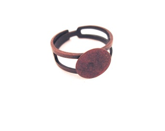 20 copper ring blanks 10mm