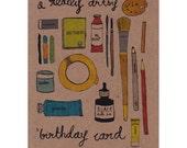 A Really Artsy Happy Birthday Card