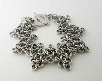 Lancelot Zig Zag Chainmaille Bracelet Handmade