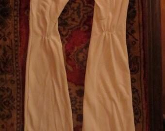 "Vintage 1950's White Opera Gloves 21.5"" Long Formal Wedding"