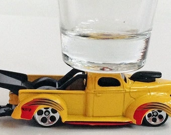 The ORIGINAL Hot Shot, Classic Hot Rods, Shot Glass, '40 Ford Pick Up Truck, Hot Wheels