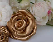 Rose Knobs Hardware Gold Leaf Rose Flower 2.5 inches Hardware Drawer Pulls Ceramic Knobs  Kitchen hardware Price is for one knob