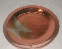 Los Castillo Dinanderie Dish -  Copper Silver and Brass Plate - Hand Wrought Made in Taxco Mexico - Vintage