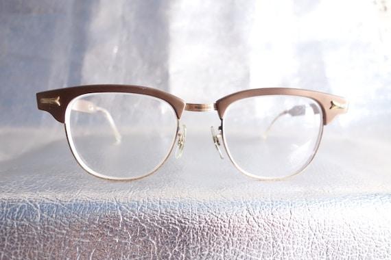 Art craft men 39 s vintage 50s half frame eyewear bronzy by for Art craft eyeglasses vintage