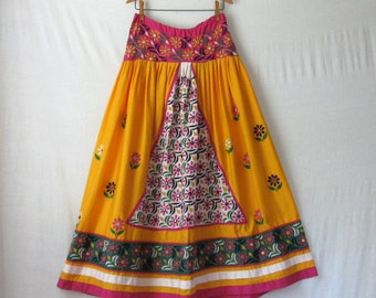 Indian Skirt Banjara Skirt Mirrored Embroidered Maxi Skirt Ethnic Skirt