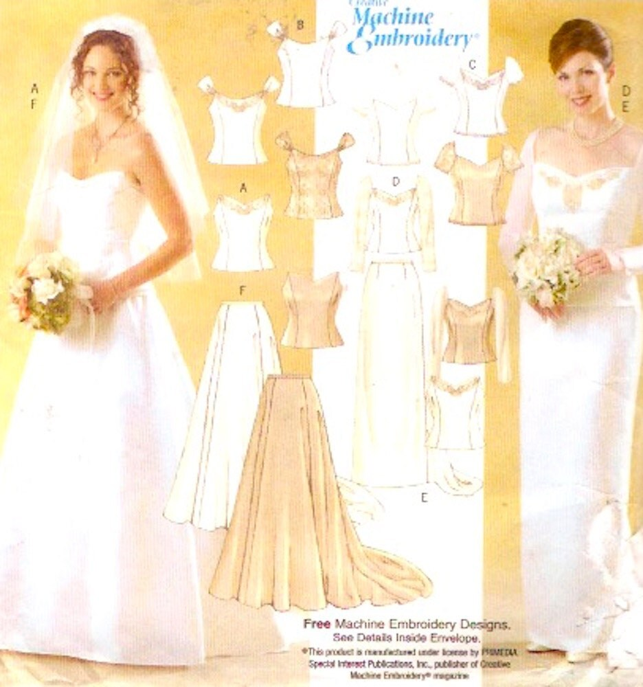 Wedding tops skirt plus size sewing pattern romantic semi for Plus size wedding dress sewing patterns