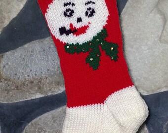 Vintage Knitted Christmas Stocking Santa Tree