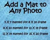 add a mat, matted photo, matted print, ready to frame, matted 5x7, matted 8x10, matted 11x14, photo with mat, print with mat