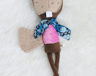 Betsy the Beaver, softie plush doll, Land of Dunlapia Friend