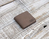 Soft Dark Brown Wallet, Leatherette Wallet Personalized, Custom Engraved Wallet --7012