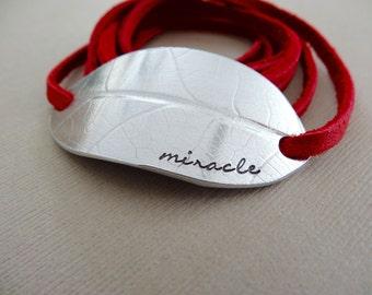 Miracle Bracelet - Leaf Wrap Bracelet - Miracle Leaf Imprint Bracelet - Nature Inspired Jewelry