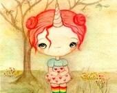 Unicorn Print Cute Animal Girl Children's Wall Art